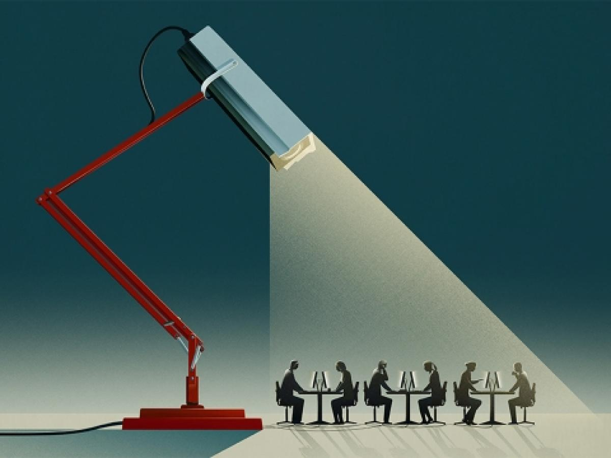 "Illustration by Matt Murphy appearing in The Economist article ""The workplace of the future"""