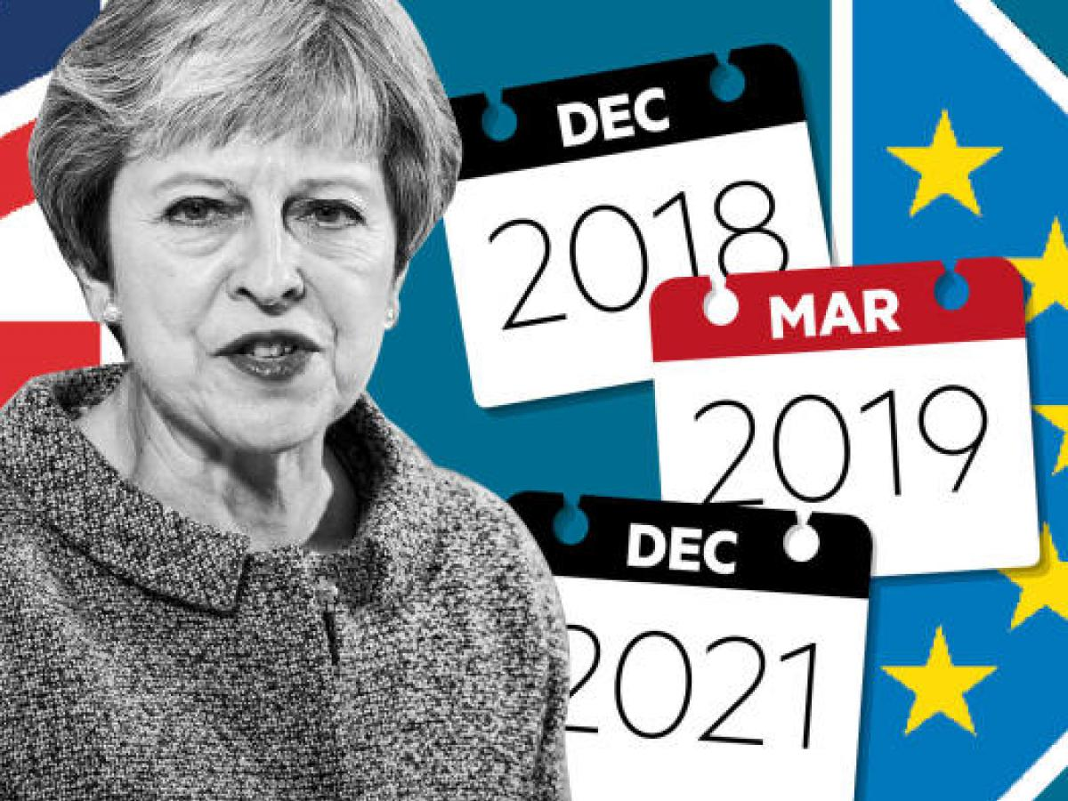 UK prime minister Theresa May hopes the EU27 leaders will give a political push to the EU's chief negotiator to close a deal.