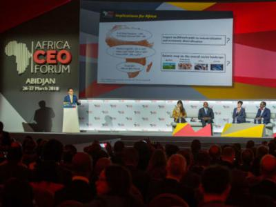 A view of the plenary session at the 6th Africa CEO Forum