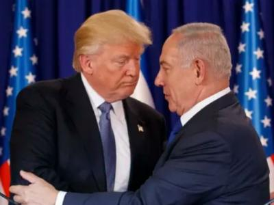 Israeli Prime Minister Benjamin Netanyahu (right) had pressed Donald Trump (left) to formally recognize Israeli control of the Golan Heights. AP